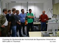 Fit für die Wirtschaft: HDBW-Praxistag im BSH-Labor in Traunreut
