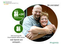 happy pixel bringt der Bayerischen Krebsgesellschaft viele Umarmungen für die Kampagne #hugshelp
