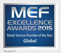 Level 3 gewinnt fünf MEF Service Provider of the Year Awards für Ethernet-Dienste