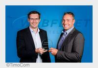 """Schön zusammengeschnitten: TimoCom erhält """"connect-Award 2015"""" von TomTom Telematics"""