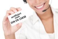 NEU: Care Center von 4sigma nach DIN EN 15838 zertifiziert
