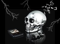 auvisio Bluetooth-3.0-Lautsprecher im schweren Totenkopf