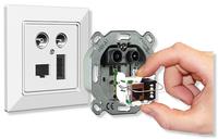 Die homeway Multimedia-Lösung - Radio, TV, LAN, Telefon in einer einzigen stets veränderbaren Multimediadose