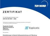 Explicatis mit zertifizierter Qualität ins neue Jahr