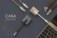 CASA von Adam Elements: Premium USB-C-Adapter und -Kabel für MacBook in Gold und Spacegrau