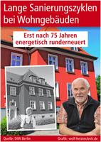 Lange Sanierungszyklen bei Wohngebäuden