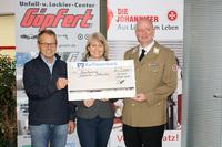 Unfall- und Lackiercenter Göpfert aus Kürnach unterstützt die Johanniter Unfallhilfe e.V.