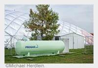 Flüssiggasversorger PROGAS unterstützt Wärmeversorgung von Flüchtlingen mit mobilen Heizanlagen.