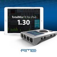 TotalMix FX auf dem iPad Pro: RME veröffentlich Version 1.30 der App TotalMix FX for iPad mit Kompatibilität für iOS 9 und 64-Bit-Unterstützung