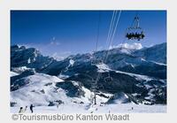 Winter Action in den Waadtländer Alpen