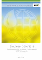 """UFOP-Sonderveröffentlichung """"Biodiesel 2014/2015"""" kostenfrei erhältlich"""