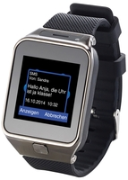 "simvalley MOBILE 1,5""-Handy-Uhr/Smartwatch PW-430.mp, BT 3.0"