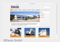 DAVIS präsentiert sich auf neuer Homepage