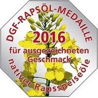 Prämiert für den besten Geschmack  Native Rapsspeiseöle mit der DGF-Rapsöl-Medaille 2016 ausgezeichnet