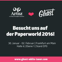 Ghost White Toner bei ARTOZ Papier AG auf der Paperworld 2016