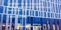 Fit für Integrierte Managementsysteme (Einführung) - Mannheim 2016