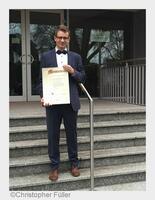 Wir gratulieren Chris Füller zum staatl. geprüften Augenoptiker-Meister