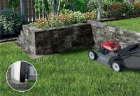 Garteninnovation: Übergangsstein zwischen Mauer und Beet