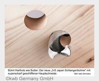 Weltneuheit: Hartholz-Bohrer von kwb Germany