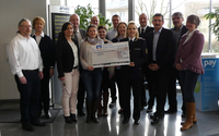Betriebsrat von arvato Financial Solutions übergibt Spende an vier soziale Institutionen in Baden-Baden