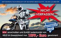 Motorrad-Ecke mit Werbespot auf N24 bei Tipps Trends News! Großes Gewinnspiel!