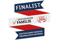 "GISA Finalist im Wettbewerb ""Erfolgsfaktor Familie 2016"""