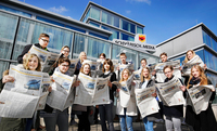 """Kooperation """"Jugendliche übernehmen die Schwäbische"""" von """"Schwäbischer Zeitung"""" und UNICEF: Eva Padberg zu Gast"""