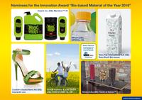 Sechs Kandidaten für Innovationspreis Bio-based Material of the Year 2016 nominiert