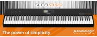 Studiologic SL88 STUDIO: Masterkeyboard mit Hammermechanik für den täglichen Arbeitseinsatz; Pedal SLP3-D als ideales Zubehör