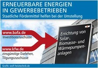 Erneuerbare Energien in Gewerbebetrieben