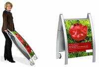 Wirkungsvoller Kundenstopper und attraktiver Plakatständer A-CURVE