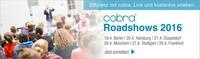 cobra CRM live: Roadshows deutschlandweit im April