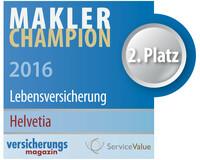 Makler-Champions: Helvetia Deutschland auf Platz 2 bei Lebensversicherern