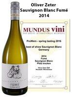 Bester Sauvignon Blanc Deutschlands beim Mundus Vini Tasting