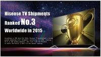Hisense war 2015 weltweit die Nr. 3 im TV-Markt