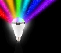 auvisio 2in1-Bluetooth-Lautsprecher mit farbwechselnder RGB-LED