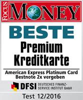 Bestnoten für Kreditkarten von American Express