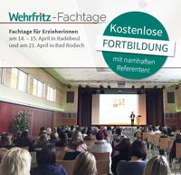 Kostenlose Wehrfritz-Fortbildung für Kita-Leitungen, Erzieher(innen) und pädagogische Fachkräfte