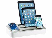 callstel 4in1 Ladeständer mit 5-Port-Netzteil für Tablets und Smartphones