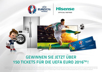 Hisense verlost als globaler Sponsor Tickets für die UEFA EURO 2016™