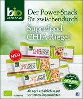Bio-Zentrale präsentiert Superfood Chia Riegel