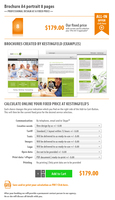 Brochure A4 portrait 8 pages | Price from 179 Dollars