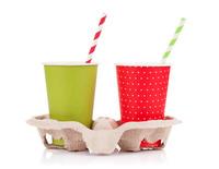 Praktische Papptrinkbecher für von Softdrinks und Shakes