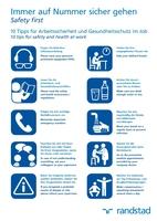 Auf einen Blick: 10 Tipps für Sicherheit und Gesundheit im Job
