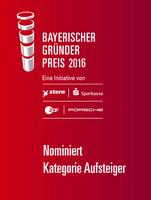 Bayerischer Gründerpreis 2016 - SCHEMA Gruppe feiert Nominierung!