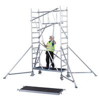 Neues Klappgerüst: Erst das Geländer, dann die Plattform
