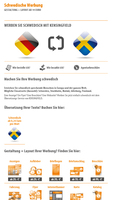 Schwedische Werbung   Gestaltung + Layout ab 19 Euro