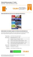 Zeitschriftenanzeige 1/1 Seite   ab 129 Euro
