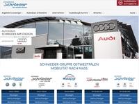 Online Marketing Agentur coupling media launcht Webseite für Schnieder-Gruppe Ostwestfalen
