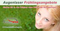 Im Frühling zur Freiheit: Augenlaser-Komplett-Angebote ab 1.088,- EUR